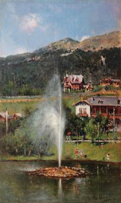 Landscape in Sinaia | Theodor Aman | Oil Painting
