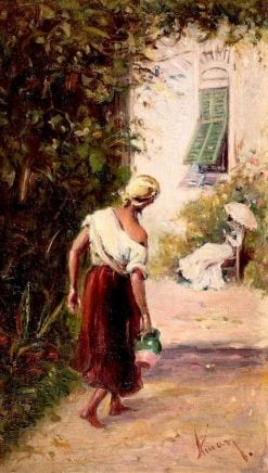 At the Well | Theodor Aman | Oil Painting