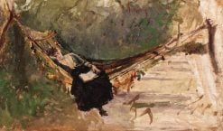 Young Woman in a Hammock | Theodor Aman | Oil Painting