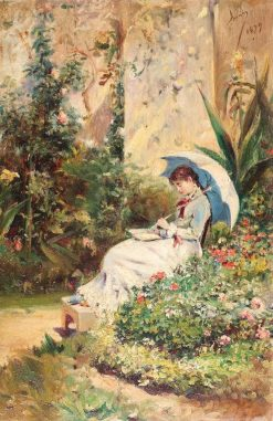 In the Garden | Theodor Aman | Oil Painting