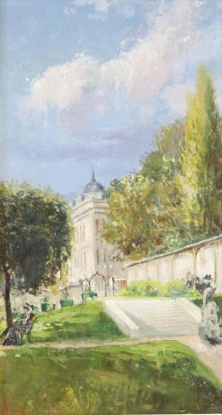 A View of a Park | Theodor Aman | Oil Painting