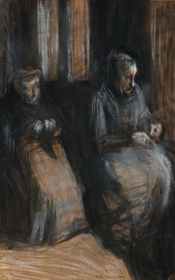Two Old Women Sitting | Umberto Boccioni | Oil Painting