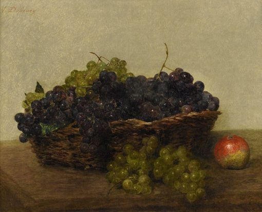 Basket with Grapes | Victoria Fantin-Latour | Oil Painting