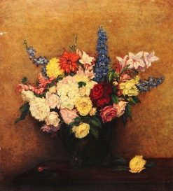 The Rosy Wealth of June | Victoria Fantin-Latour | Oil Painting