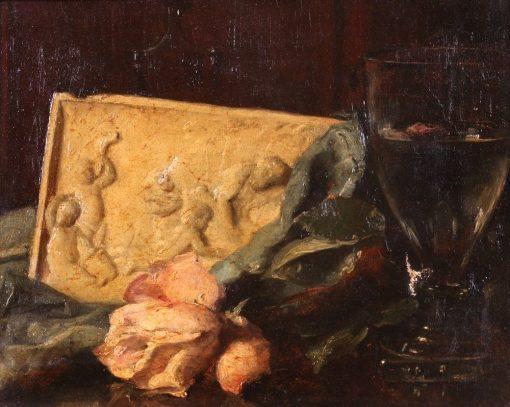 Flower Bouquet on a Table   Victoria Fantin-Latour   Oil Painting