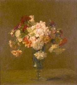 Vase of Carnations | Victoria Fantin-Latour | Oil Painting