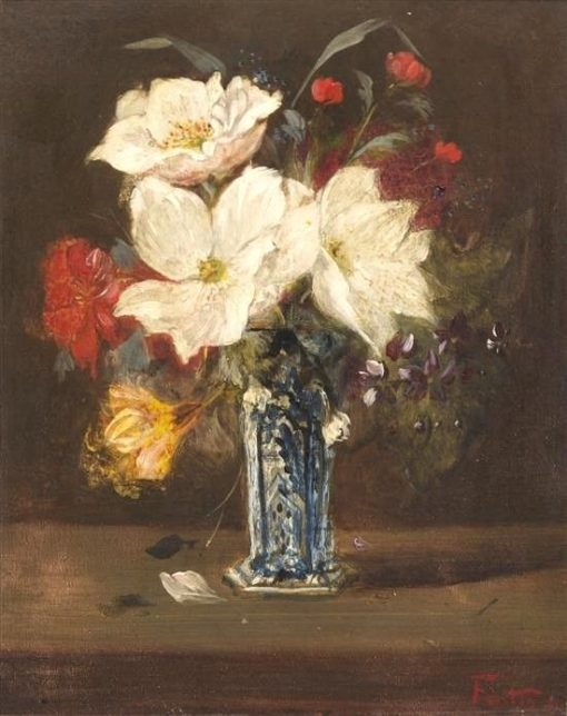 Vase of Flowers | Victoria Fantin-Latour | Oil Painting