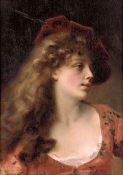 A Young Beauty | Gustave Jean Jacquet | Oil Painting