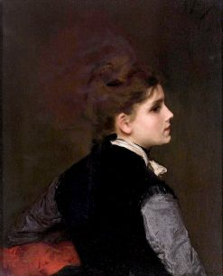 A Young Woman in Profile | Gustave Jean Jacquet | Oil Painting