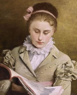 Attentive Reading | Gustave Jean Jacquet | Oil Painting