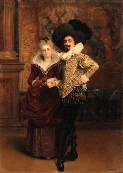 An Elegant Couple | Gustave Jean Jacquet | Oil Painting