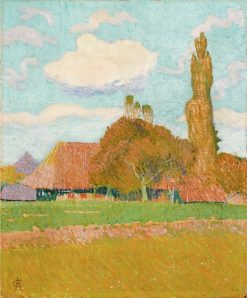 Landscape at Hellsau | Cuno Amiet | Oil Painting