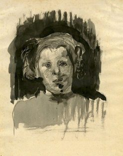 Girl's Head | Cuno Amiet | Oil Painting