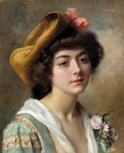 Head of a Girl | Gustave Jean Jacquet | Oil Painting