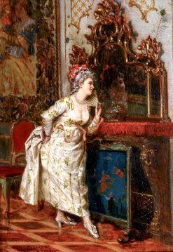 The New Fan | Giacomo Mantegazza | Oil Painting