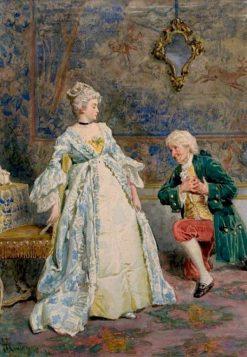 Courtship | Giacomo Mantegazza | Oil Painting