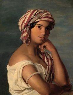 Portrait of an Oriental Woman   Rosalie Amon   Oil Painting