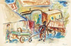 Circus | Imre Ámos | Oil Painting