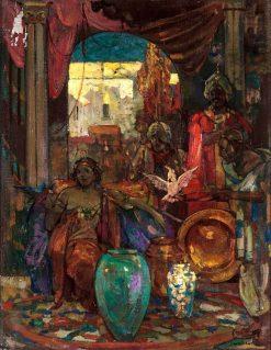 Arabian Scene | John Henry Amshewitz | Oil Painting