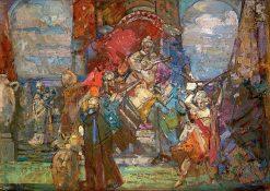 The Sword Dancer | John Henry Amshewitz | Oil Painting