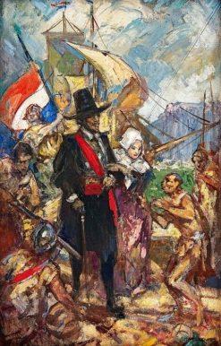 The Landing of Jan van Riebeeck | John Henry Amshewitz | Oil Painting