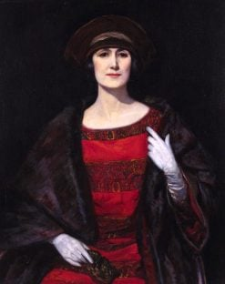 Portrait of a Lady in a Fur Shawl | John Henry Amshewitz | Oil Painting