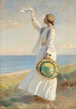 Marie Dinesen on the Beach | Michael Peter Ancher | Oil Painting