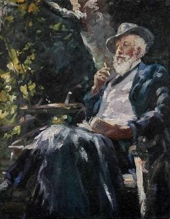 Portrait of the Danish Painter and Poet Holger Drachmann | Michael Peter Ancher | Oil Painting
