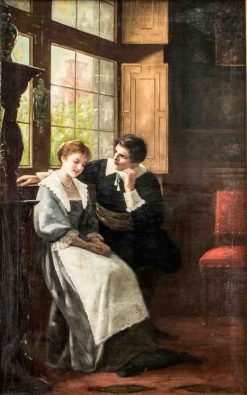 Young Couple in Conversation | Ernest Anders | Oil Painting