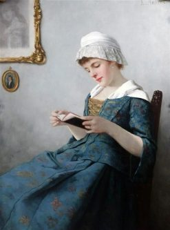 A Quiet Read | Ernest Anders | Oil Painting
