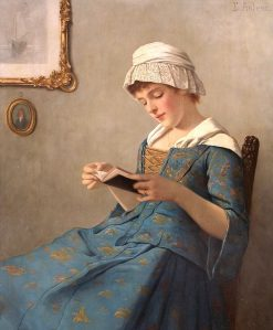 Young Woman Reading | Ernest Anders | Oil Painting