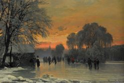 Ice Pleasure in the Sunset | Anders Anderson-Lundby | Oil Painting