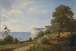 View of the Cliffs at Nön | Anders Anderson-Lundby | Oil Painting