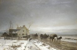 The Long and Wintery Road | Anders Anderson-Lundby | Oil Painting