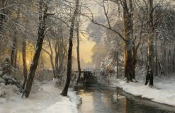 Winter Woodland at Dawn | Anders Anderson-Lundby | Oil Painting