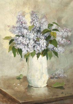 Vase of Lilacs | Nicolae Angelescu Ange | Oil Painting