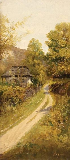 Country Road | Nicolae Angelescu Ange | Oil Painting