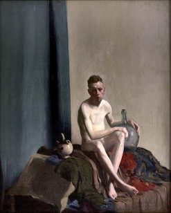 Seated Male Figure with Water Jug | Thomas P. Anshutz | Oil Painting