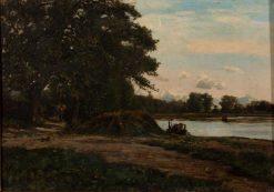 Landscape with Figures | Thomas P. Anshutz | Oil Painting