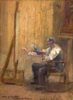 Painter in His Studio   Thomas P. Anshutz   Oil Painting