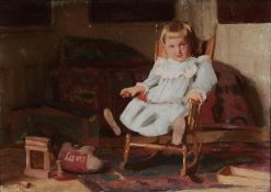 Child in a Blue Dress in a Chair | Thomas P. Anshutz | Oil Painting