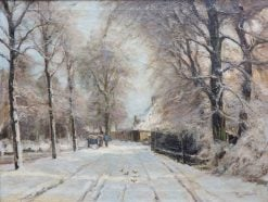 A Snowy Lane in The Hague | Louis Apol | Oil Painting