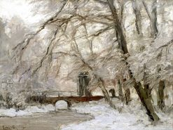 A Woodland River in Winter | Louis Apol | Oil Painting