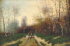 Autumn Landscape with Horse Cart | Louis Apol | Oil Painting