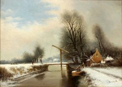 Canal Scene | Louis Apol | Oil Painting