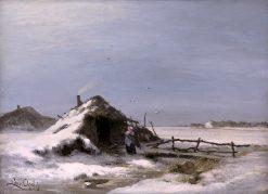 A Winter Landscape | Louis Apol | Oil Painting