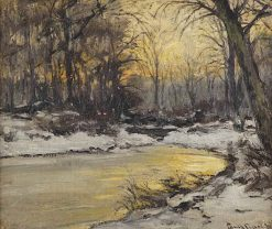 Early Morning in a Snow Covered Forest | Louis Apol | Oil Painting