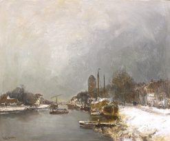A Canal in Winter | Louis Apol | Oil Painting