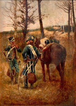 Small Guard Post of the 8th Hussard | Jean-Louis Ernest Meissonier | Oil Painting