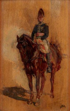 Portrait of a Soldier on Horseback | Jean-Louis Ernest Meissonier | Oil Painting